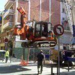 2PE Ubicación con grúa del equipo de perforación Barcelona