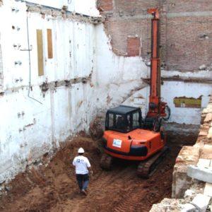 2PE Pilotes y Minipilotes en excavación para una vivienda
