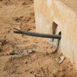 2PE Anclajes activos en la protección de un muro de protección en un castillo