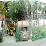 2PE Anclajes en un muro en calle estrecha Pedralbes